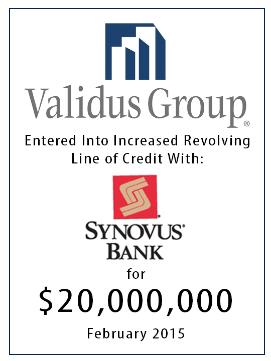 synovus line of credit 20 million